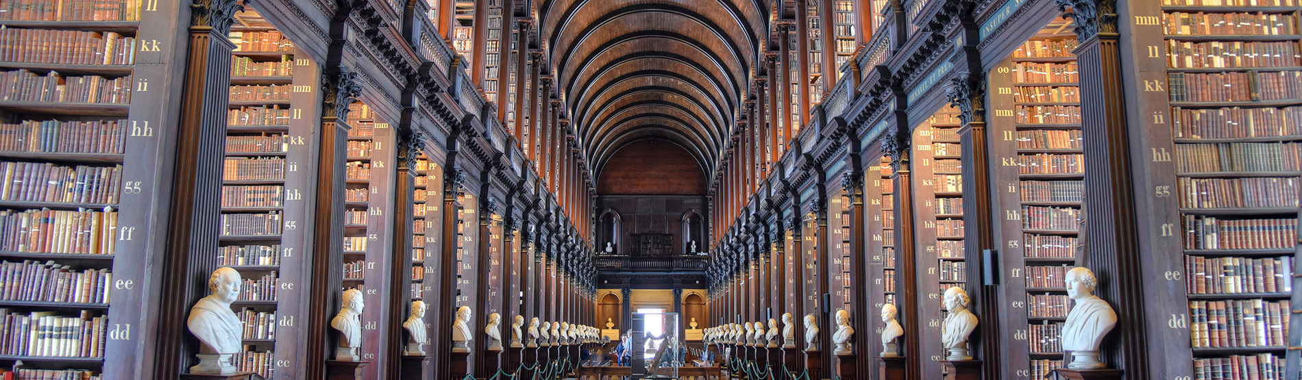 The Long Room in The Old Library, Trinity College, Dublin