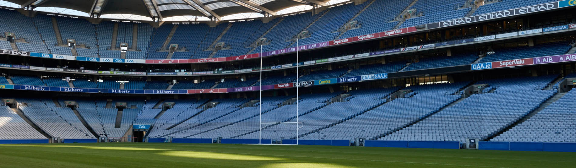 pitch side view at Croke Park stadium