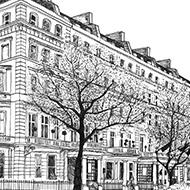 Kensington Hotel Square Sketch