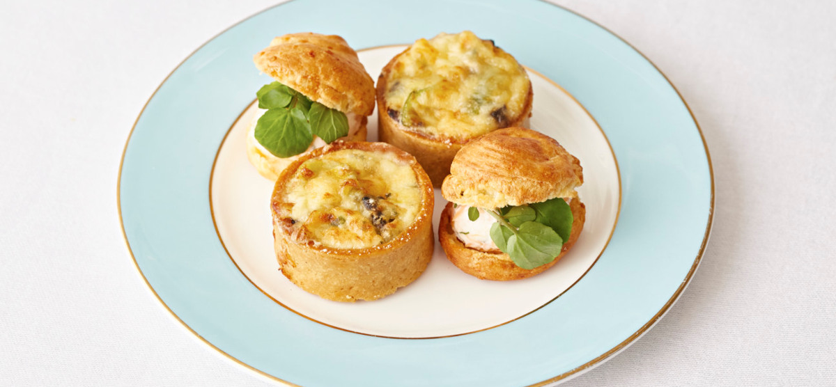 Savoury Treats as part of Afternoon Tea in The Kensington