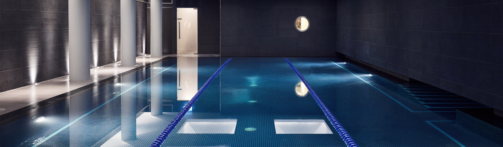 The swimming pool at The Marylebone