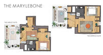 Floorplans of the Terrace Suites - The Harley/The Wimpole