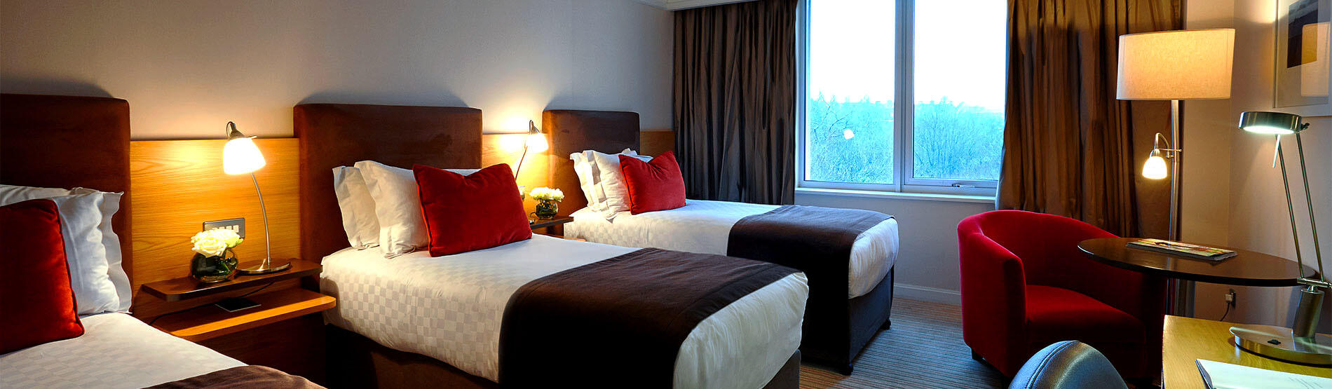 Superior Room with 3 single beds at The River Lee hotel in Cork