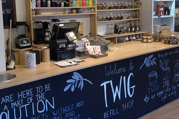 inside Twig refill shop in Cork
