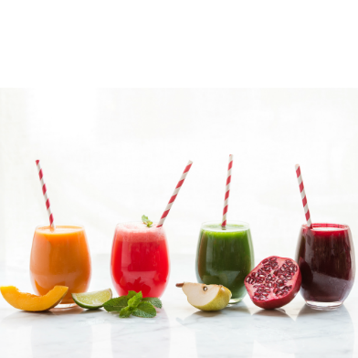 Healthy Juices from The Juicery in The Marylebone