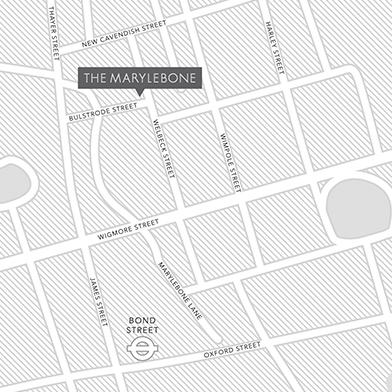 Marylebone Home Slice Large Square (Map)
