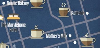 London Coffee Shops Map