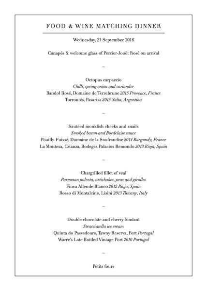 Town House_FOOD  WINE MATCHING DINNER 21 09 2016_A5