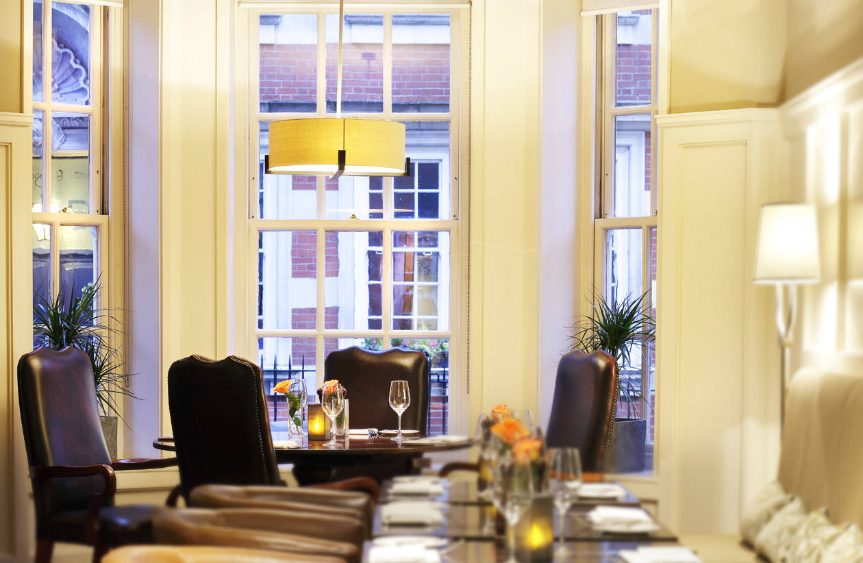 Dining at The Marylebone Hotel