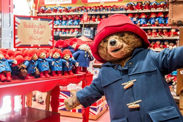 Paddington Bear at Hamleys
