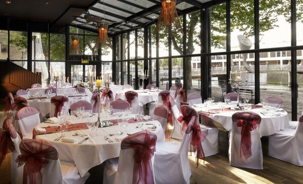 The Bristol Hotel - River Grille set for wedding (2000x1218)